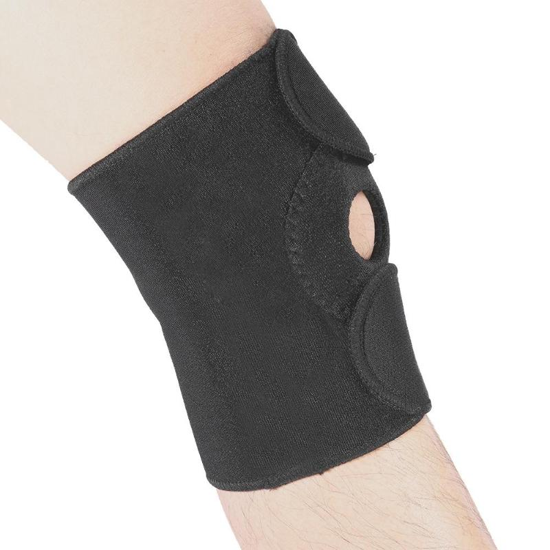 1pc Adjustable Elastic Knee Support Brace Breathable Kneepad Patella Knee Pads Hole Sports Safety Guard Strap For Running
