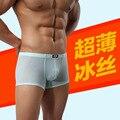 JQK suministro directo de fábrica de los pantalones de los hombres U bolsa convexa hombres del diseño de la ropa interior de seda fina 309