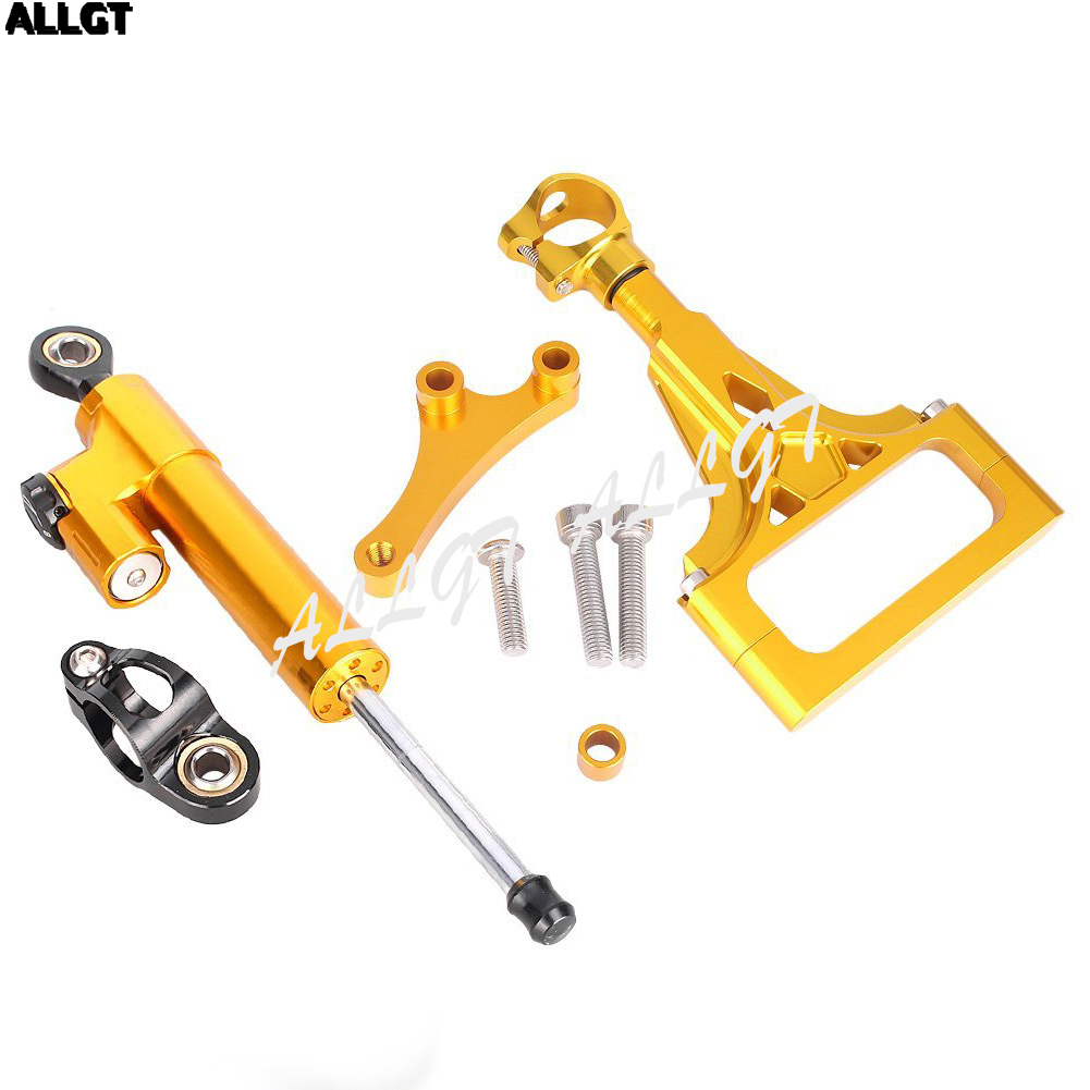 ALLGT Motorcycle CNC Steering Damper Set For KAWASAKI Z1000 Z750 2003 2004 2005 2006 2007 2008 2009 W/Bracket Kits