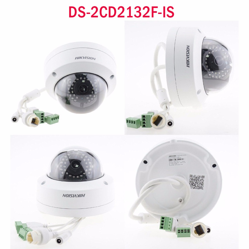 3MP IP camera dome POE HD 1080P network ipcam security cctv surveillance DS-2CD2132F-IS replace DS-2CD2135F-IS ds-2cd2132-i multi language ds 2cd2135f is 3mp dome ip camera h 265 ir 30m support onvif poe replace ds 2cd2132f is security camera