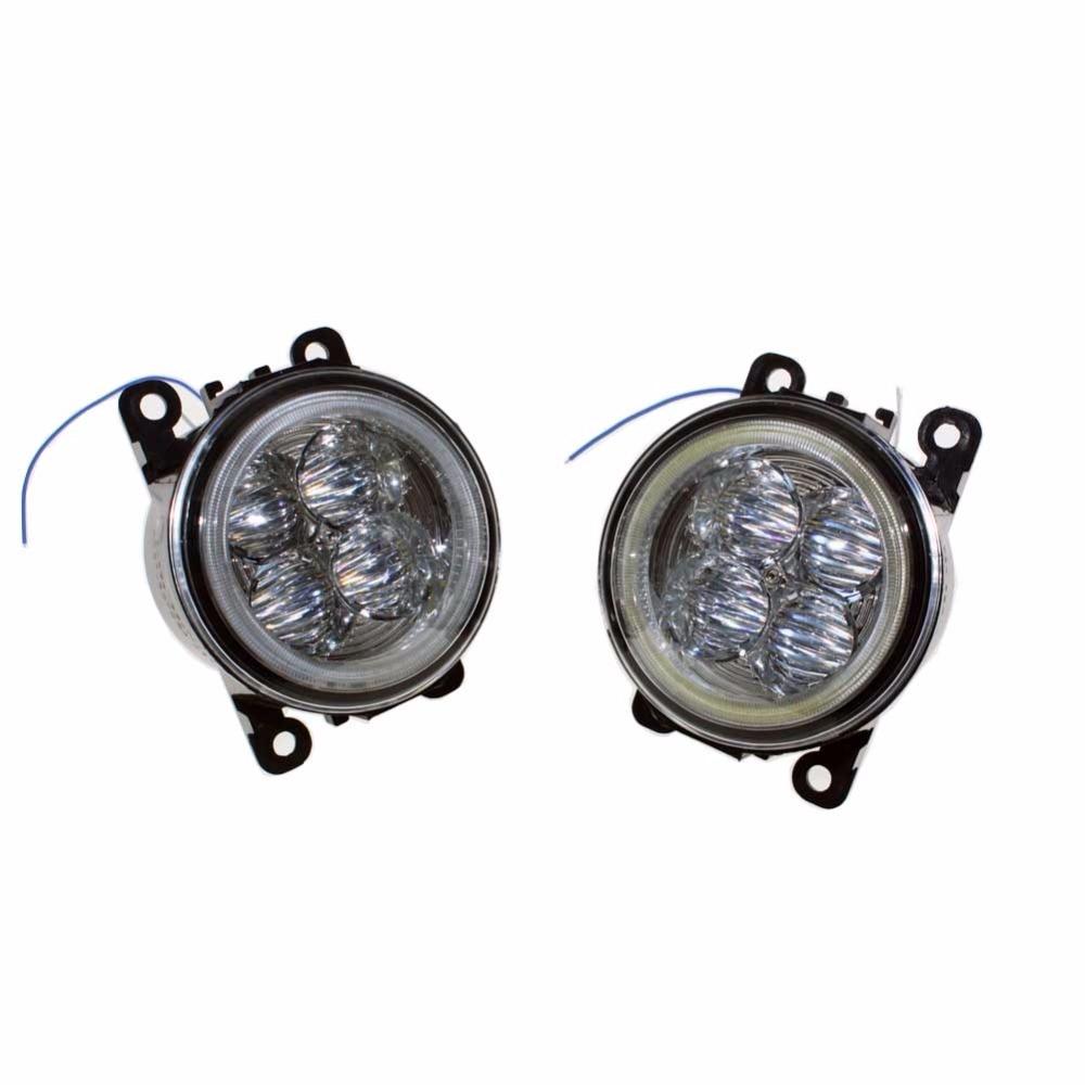 For Ford C-Max / Fusion 2013-2014 Car Styling Bumper Angel Eyes LED Fog Lamps DRL Daytime Running Fog Lights OCB Lens