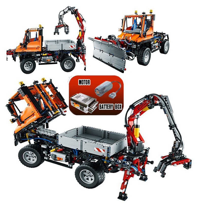 Lepin 20019 Technic 2088Pcs Unimog U 400 building bricks blocks Toys for children boys Game Model Car Compatible with Bela 8110 lepin 02012 city deepwater exploration vessel 60095 building blocks policeman toys children compatible with lego gift kid sets