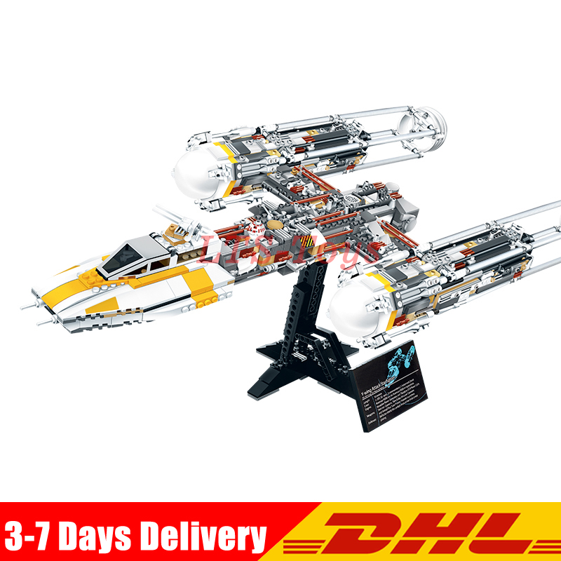 Lepin 05040 Star Series Wars Y Star Wing Attack Fighter Building Assembled Block Brick DIY Toy Educational Gift Compatible 10134 lepin 05040 star series y toy wing set attack fighter educational building block assembled brick compatible with war toys 10134