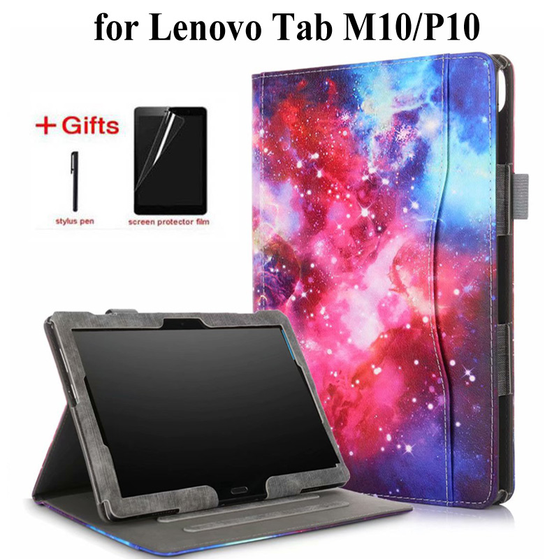 Front Support Flip Wallet Leather <font><b>Case</b></font> For <font><b>Lenovo</b></font> Tab P10 <font><b>TB</b></font>-X505F <font><b>TB</b></font>-<font><b>X705L</b></font> <font><b>TB</b></font>-X605F cover for <font><b>Lenovo</b></font> Tab M10 <font><b>TB</b></font>-X605F <font><b>case</b></font>+gift image