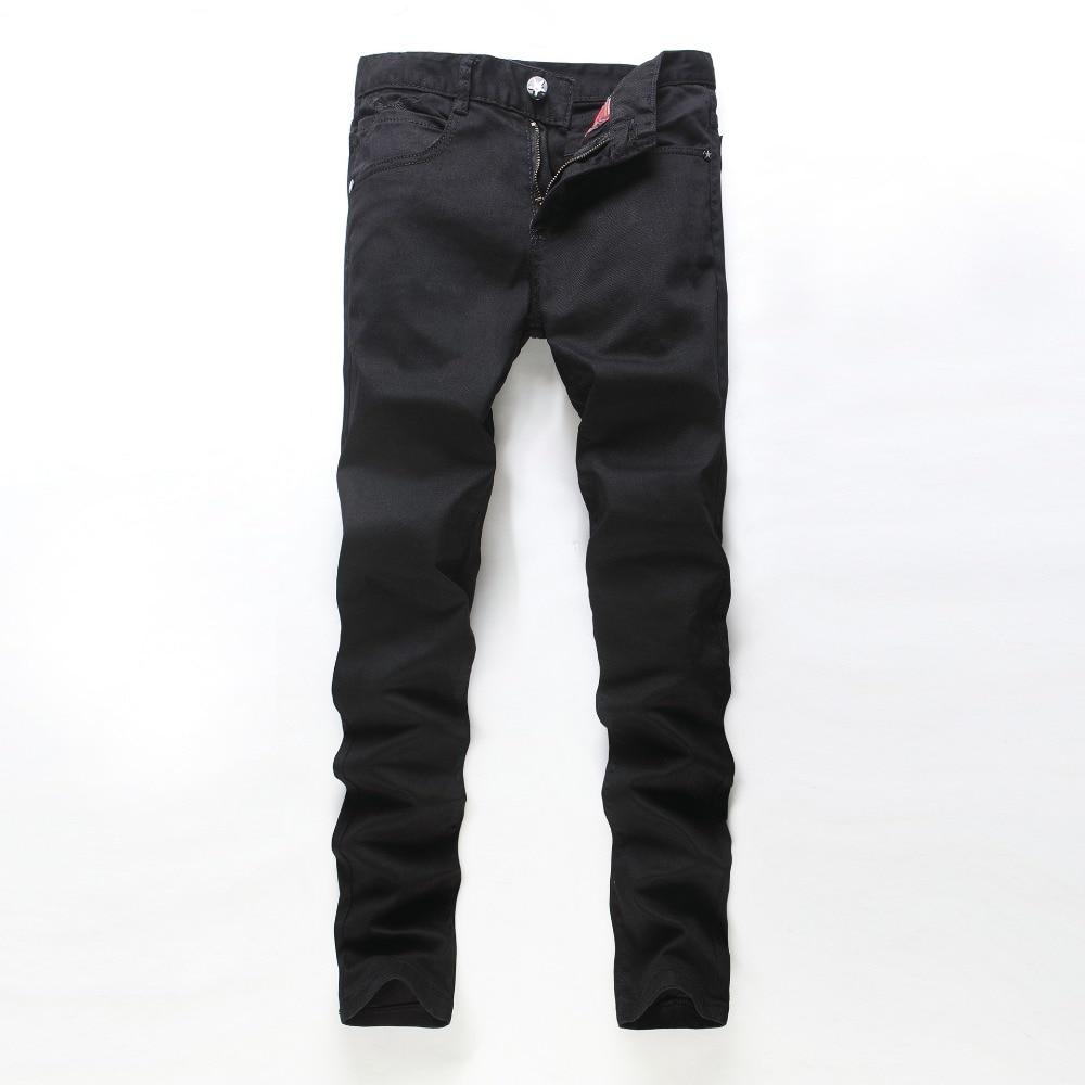 2016 new fashion locomotive jeans men hot nail jeans Men s casual Denim Jeans black skinny