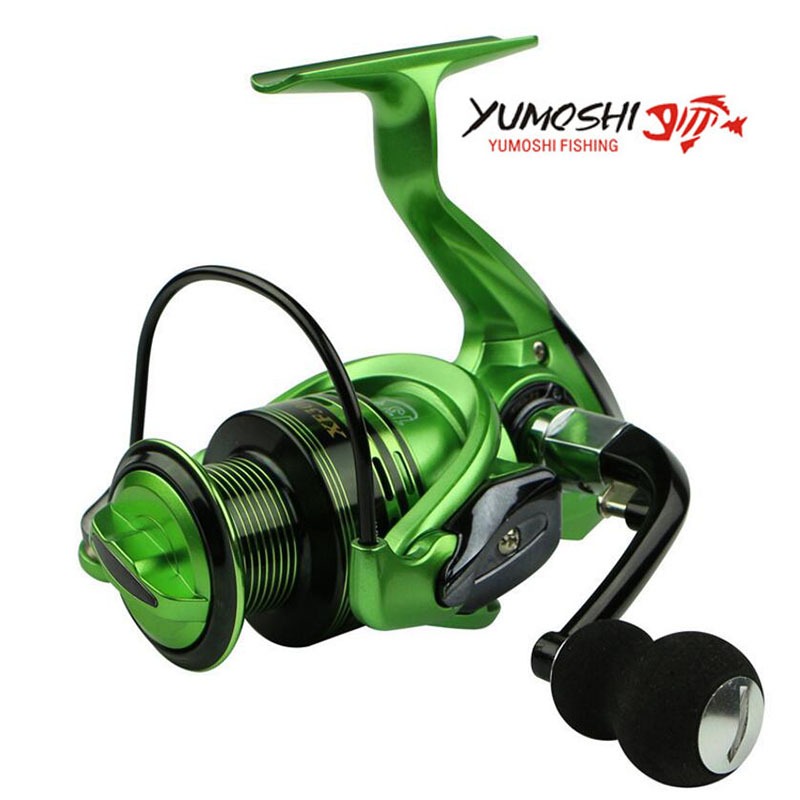 Yumoshi new wire cup All metal rocker arm 1000-7000 series 13+1BB spinning reel without clearance fishing reel new type superior metal arm 13 1bb 4000 7000 series surf spinning fishing reels big long shot casting fly sea wire cup wheels