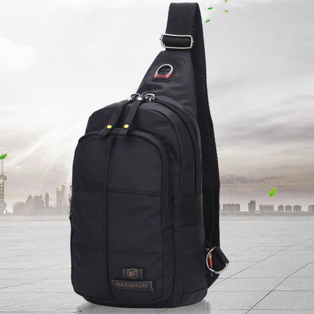 2018 Men High Quality Waterproof Nylon fashion Messenger Shoulder Bag Military Travel Camp Sling Chest Bag high quality military nylon shoulder bag green sand color