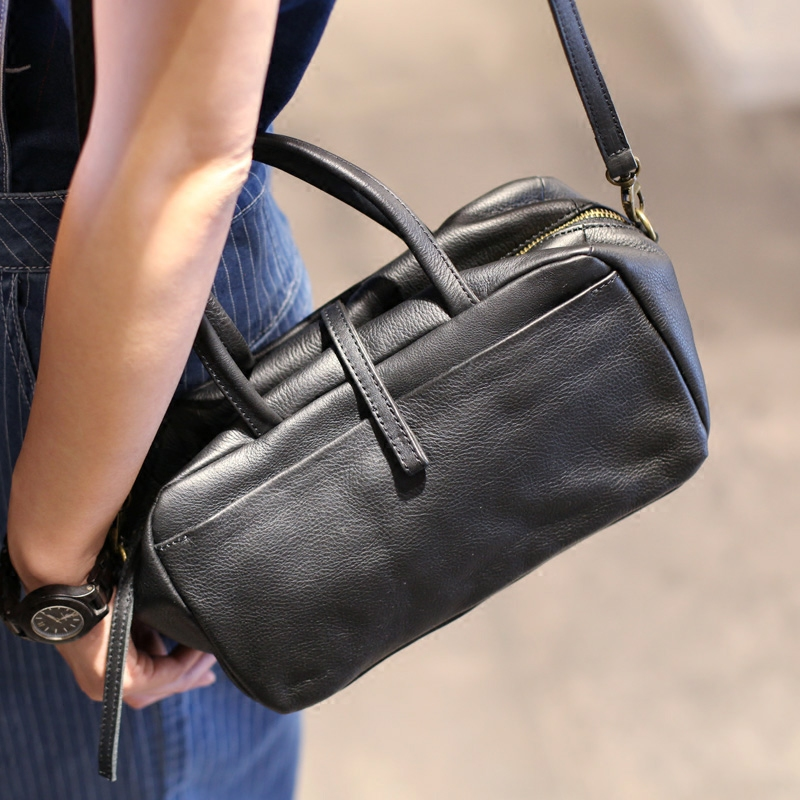 Sac à main en cuir de vachette rétro Vendange style japon et corée petit sac à bandoulière sac à bandoulière sac messenger 2416
