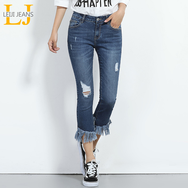 fa91ba47f42 2018 New arrival Jeans For Women Ripped Hole Jeans Skinny Jeans Tassel  Fringe Jeans 6XL Plus Size Jeans 40-120KG Available 5844