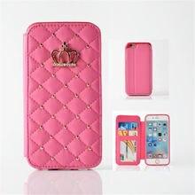 Для Крышки apple, iPhone5S С Диаманта Bling Флип Кожаный Бумажник Чехол Обложка Для Коке iPhone5SE Телефон Случае с гнездами для карт