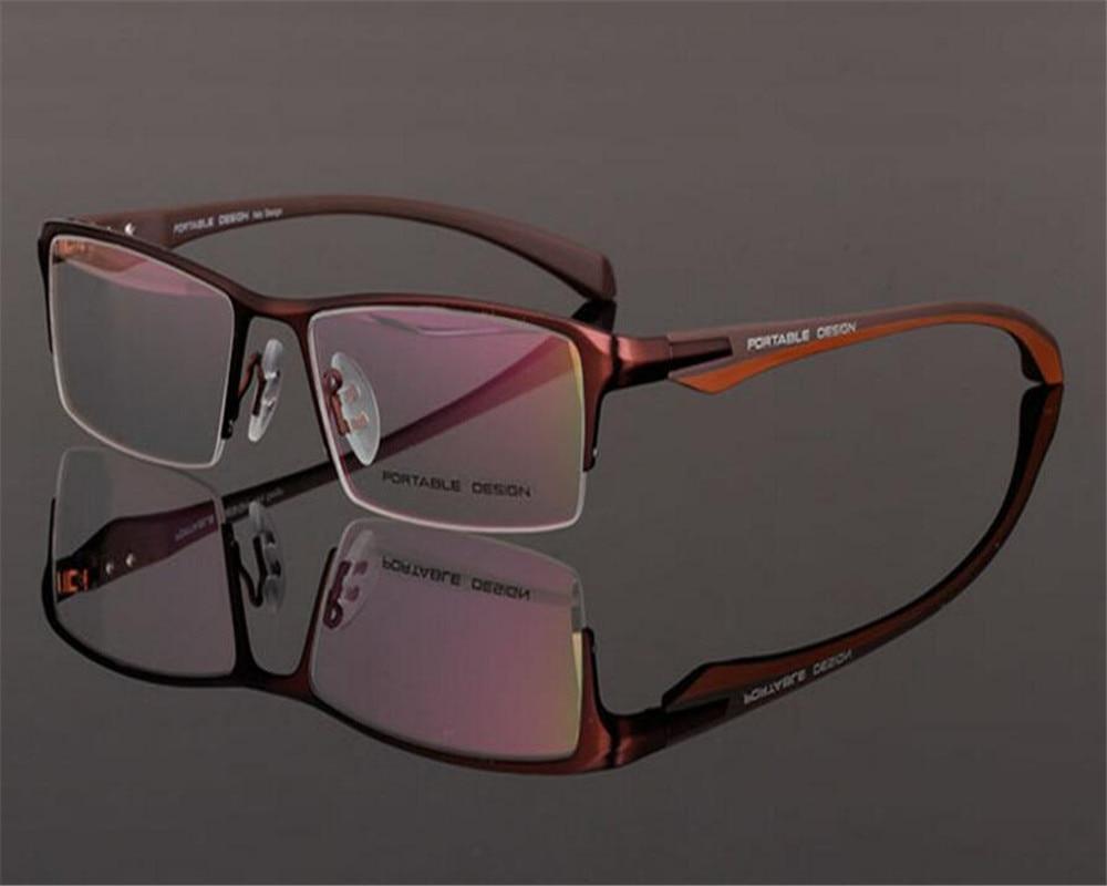 Men's Reading Glasses Ambitious 55-18-136 Business Men Fashion Half Rim Alloy Brand Blue Silver Prescription Presbyopia Lens Optical Reading Glasses Zjh9065 To Ensure Smooth Transmission