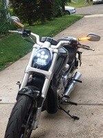 2017 newest Motorcycle Aluminum Headlight For Harley V Rod VROD VRSCA VRSC Headlight Screamin' Eagle CVO V Rod, Street Rod