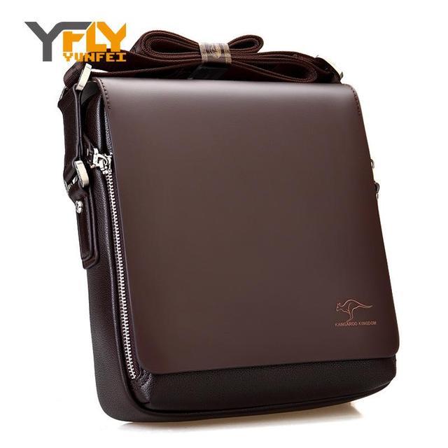 Y-FLY 2016 News Hot Sale Kangaroo Leather Men Messenger Bags Business Men Shoulder Bags Handbags Casual Men's Travel Bags A0002