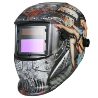 Industrial Welding Helmet Auto Darkening Welding TIG MIG Terminator Solar Powered Grinding Welding\Soldering equipment