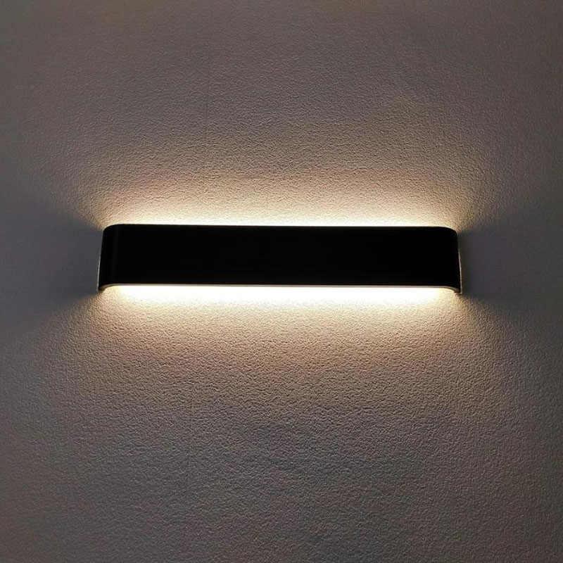 Современный минималистичный светодиодный алюминиевый лампа прикроватная настенная лампа для ванной комнаты, зеркальный светильник, прямой креативный проходу