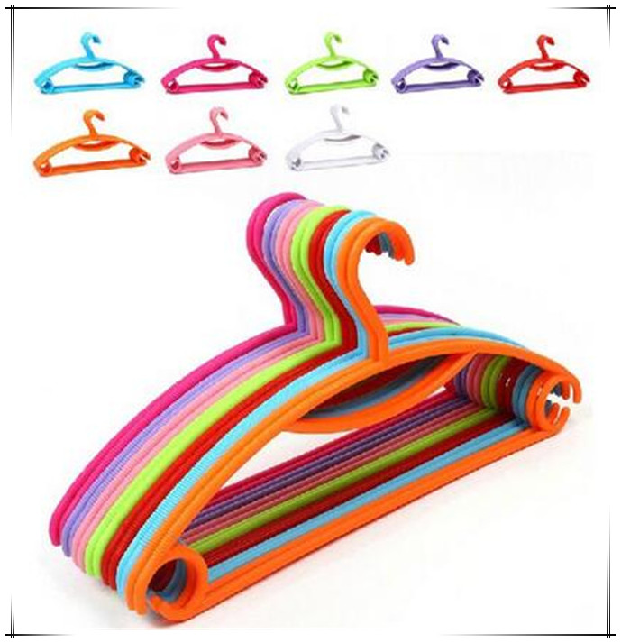 new colorful rainbow plastic hangers solid adult clothes tree coat hanger non - Clothes Tree