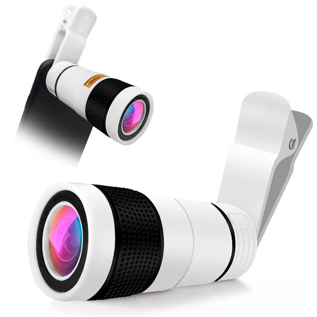 Universal 8x Zoom Optical Phone Telescope Lens For IPhone 7 6S SE...
