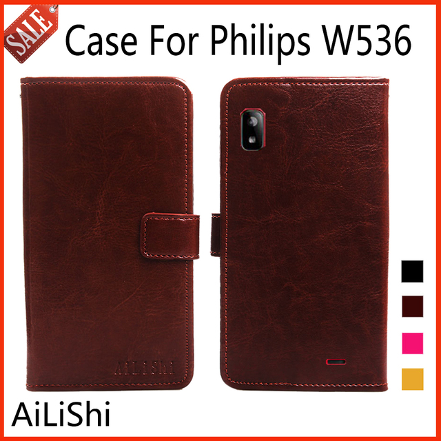 AiLiShi Leather Case For Philips W536 Case Flip Protective Cover Phone Bag Luxury Wallet Tracking Number!