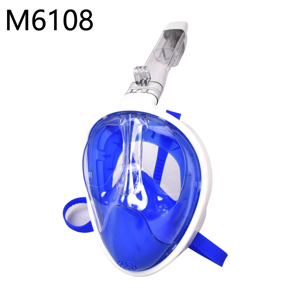 2019 nouveau masque de plongée en apnée plein visage ensemble plongée sous-marine masque de natation formation plongée sous-marine Mergulho masque de plongée pour caméra Gopro - 3