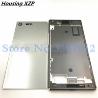 Original Middle Front Frame Bezel Housing LCD Screen Holder Frame For Sony Xperia XZ Premium XZP Battery cover With Logo