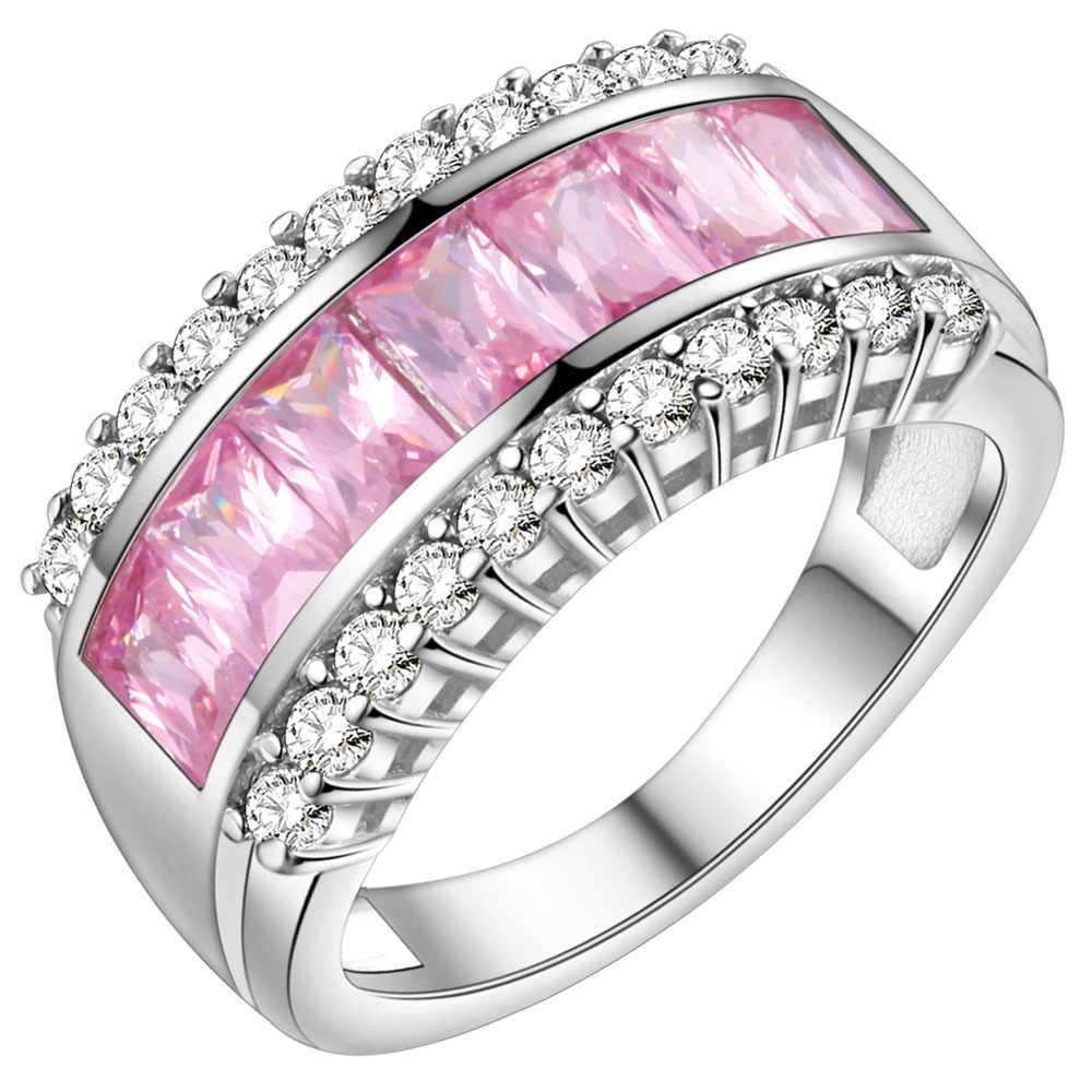 טבעת זירקון טבעת זוג תכשיטי אופנה בציפוי זהב 925 Vashiria כתר קיסרי & טבעת מאהב צלב J662 רומנטי