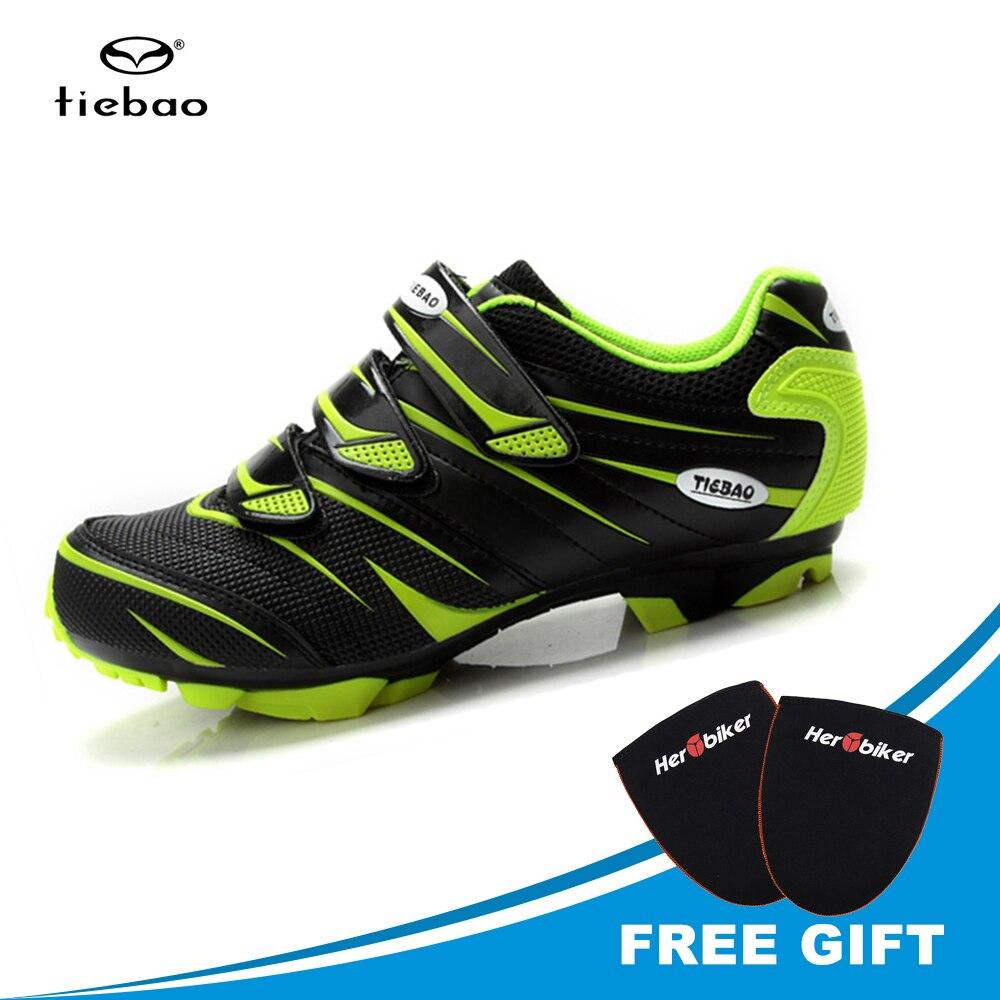 цена на TIEBAO Professional Mountain Bike Cycling Shoes Sapatilha Ciclismo Mtb Shoes Men Mountain Bike Shoes Biking Sneakers Triathlon