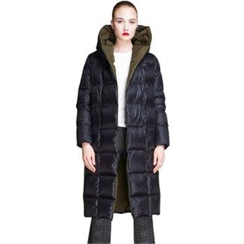 2020 New Women winter Down Jackets Hooded Women's Coats Oversize Long White Duck Down Coat Warm Loose Female Down Parkas J976