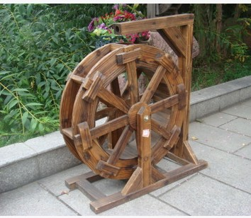 Superbe New Special Feng Shui Garden Sketch Wooden Waterwheel Wheel Transport Wheel  Wood Wind Gulu Diameter 30