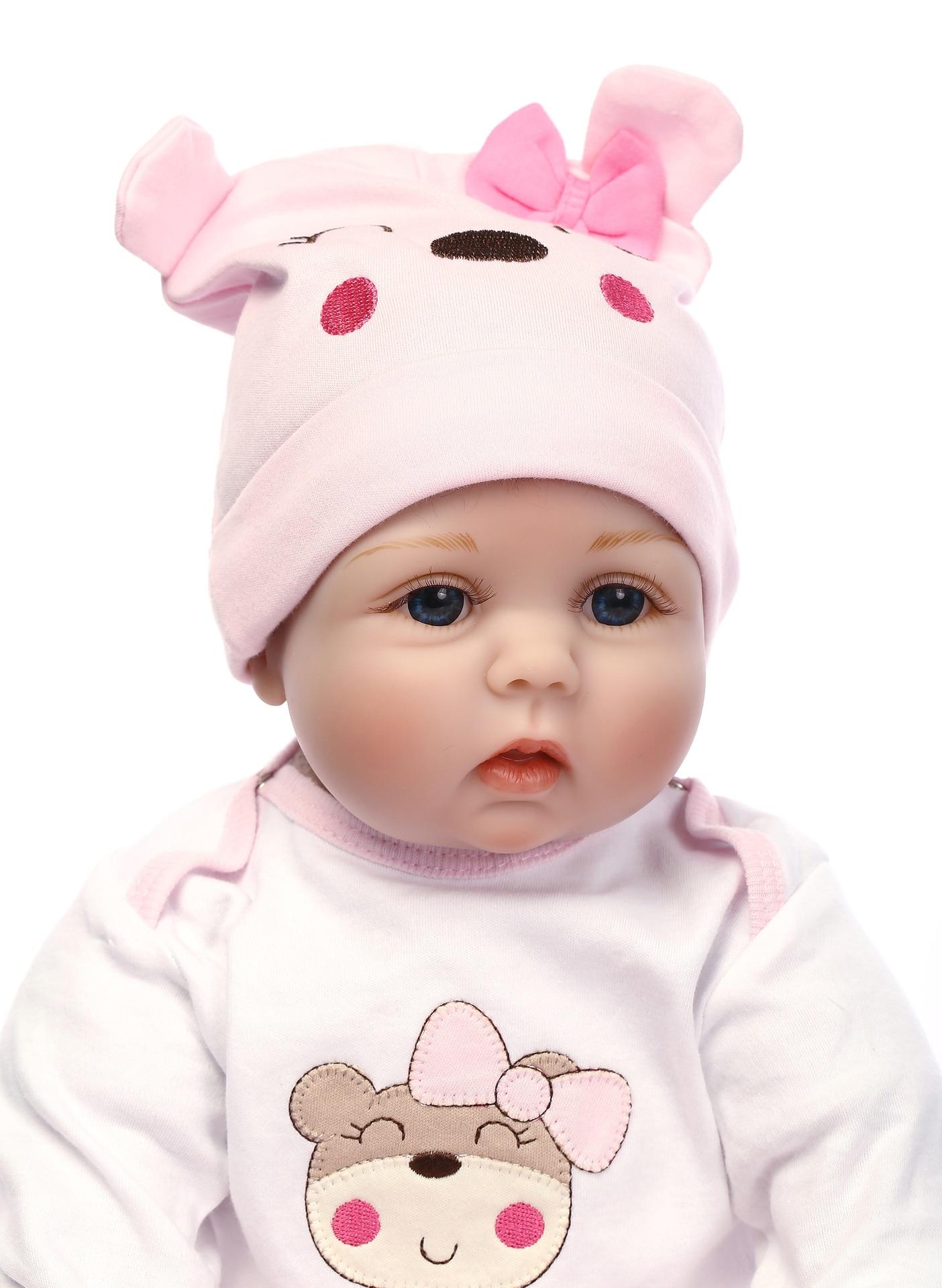Vinilo de Silicona Suave 55 cm Reborn Baby Girl Doll Appease Muñecas - Muñecas y accesorios - foto 4