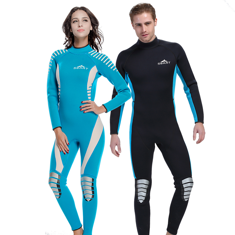 SBART Neoprene Triathlon Wetsuit 3MM Surfing One-Piece Wetsuit Women Men Full Body Wet Suit Spearfishing Scuba Diving Suit O1030 sbart 3mm neoprene diving wetsuit men