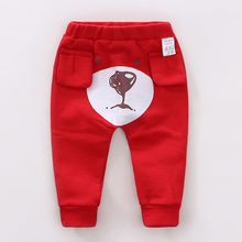 YiErYing  Baby Leisure Pants Infant Cartoon Cotton Boy Girl Cute Animal Newborn Trousers