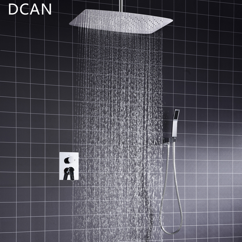 Bathroom 2 Way Hot Cold Brass Diverter Multifunctional Shower Kits Air Pressurized High Pressure Water Saving Shower Head Set