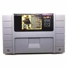 14 em 1 com Earthbound Chrono Trigger Secret Of Mana 16 bit 46 pinos Grande Cinza Consola de jogos Para OS EUA Versão Jogador NTSC Salvar