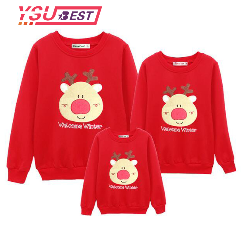 Family Christmas Shirts.Us 7 35 20 Off New Christmas Family Clothing 2018 Christmas Deer Kid Shirts Mommy And Me Clothes Mother Daughter Father Family Matching Outfits In