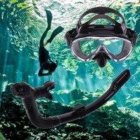 2017 Yeni Profesyonel Silikon Dalış Maskesi Anti-Sis Gözlük Gözlük Şnorkel Solunum Tüp Seti Yüzme Havuzu Balıkçılık Ekipmanları