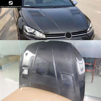 Hot sell Golf7 carbon fiber engine hood cover for Volkswagen Golf 7 front bumper Aspec style 14 15