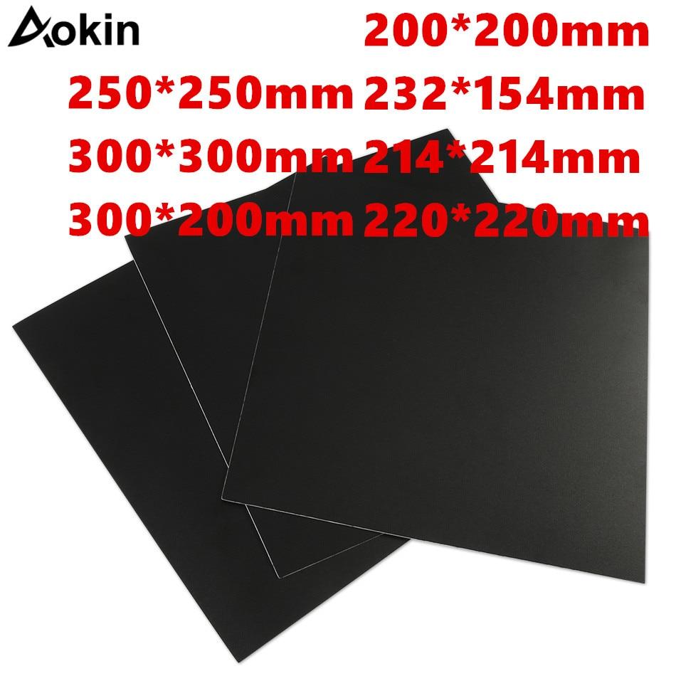 A impressora 3d de aokin parte 200/214/220/280/300mm geou a impressão calorosa da etiqueta da cama constrói folhas a placa a plataforma da fita etiqueta|Peças e acessórios em 3D|   - AliExpress - Impressora 3D