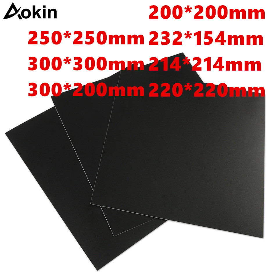 Aokin 3D Printer Parts 200/214/<font><b>220</b></font>/280/300mm Frosted <font><b>Heated</b></font> <font><b>Bed</b></font> Sticker Printing Build Sheets Build Plate Tape Platform Sticker image