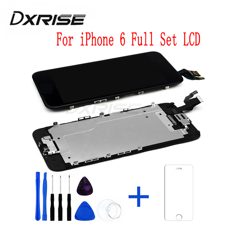 Liquid crystal display Display screen For Iphone 6 Show Full Set Meeting Contact Display screen Digitizer As Unique Display screen Entrance Digicam+Mood Glass+Software Elements