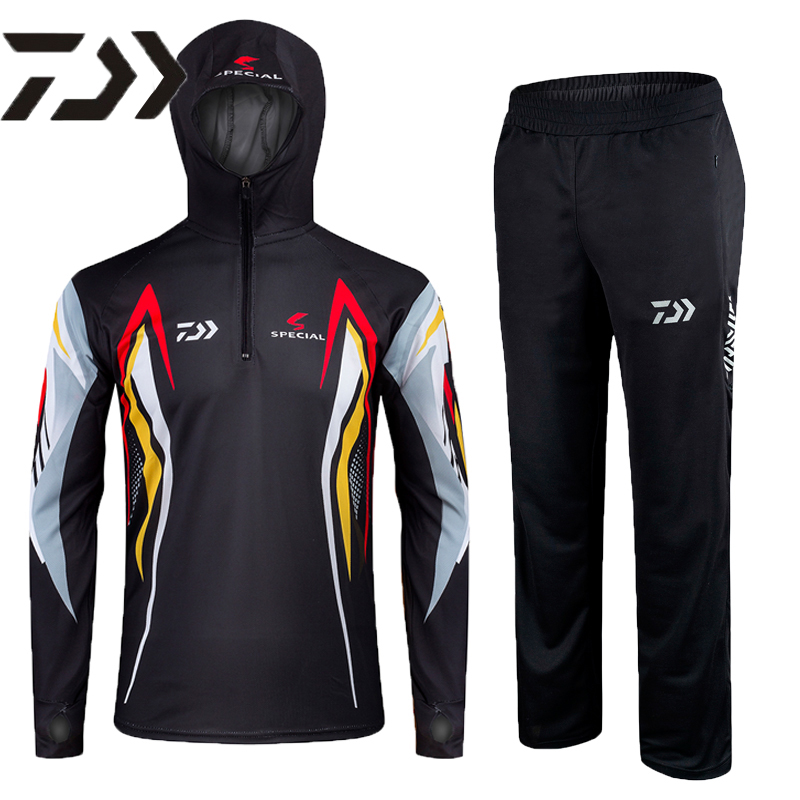 2017 NEW DAIWA Fishing clothes suit Sunscreen outdoors Anti mosquito Quick dry Breathable DAWA summer DAIWAS Free shipping