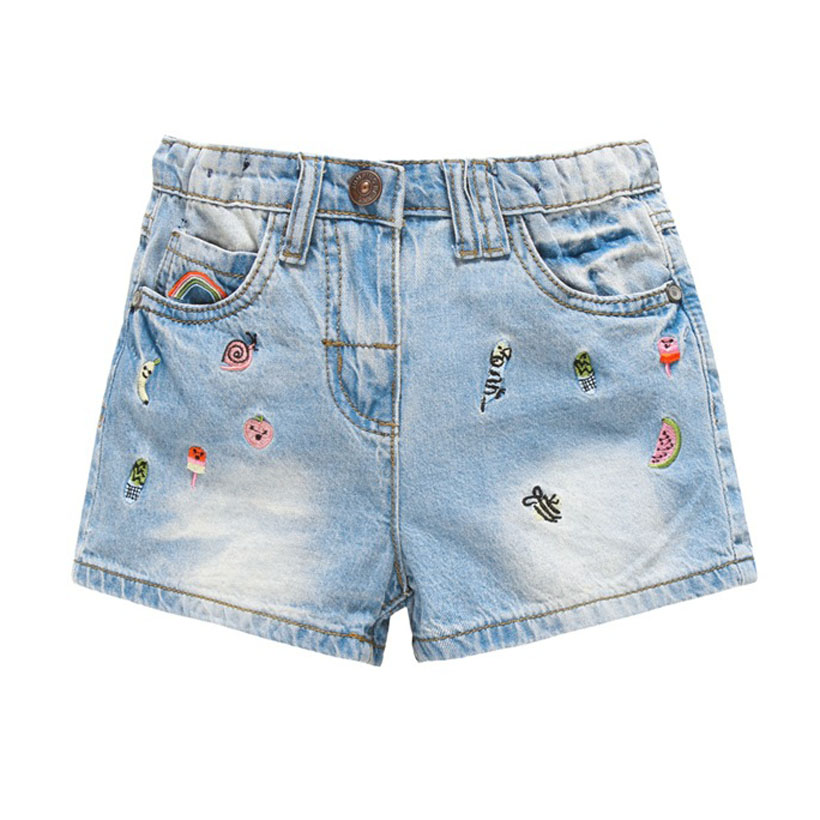 Baby Girls Casual Bukser Ny Sommermote Blomst Barn Shorts Capris Beach Bukser Kids Shorts Bermudas Girl Short Pants