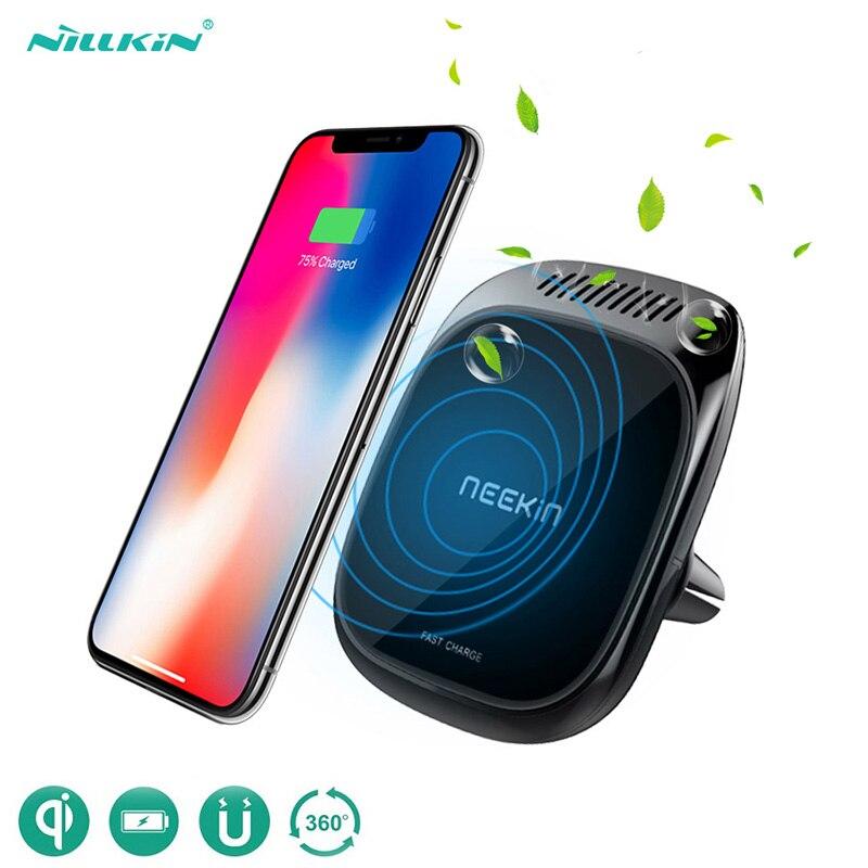 Chargeur sans fil voiture désodorisant NILLKIN voiture support pour téléphone magnétique évent support de montage Qi chargeur sans fil pour iPhone Samsung