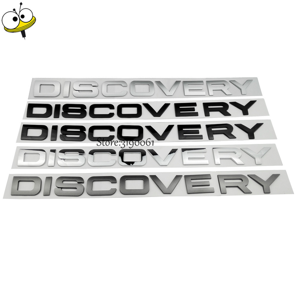 Car Sticker 3D Emblem For Land Rover Discovery 2 3 4 Freelander Range Rover Evoque Defender Rear Letter Sticker Plastic Decal