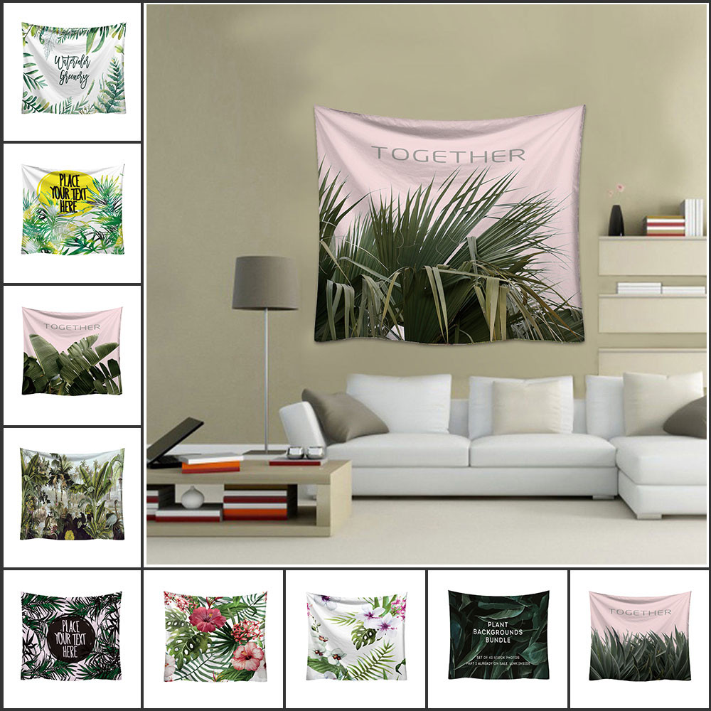 Home Decor For Sale: 2019 Hot Sale Fashion Tapestry Green Leaf Pattern Fresh