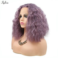 Sylvia High Temperature Fiber Hair Brazilian Curly Wig Synthetic Lace Front Wigs for Women Lady Girls Lavender/Violet/Pink Wig наручные часы orient fsz2f004w