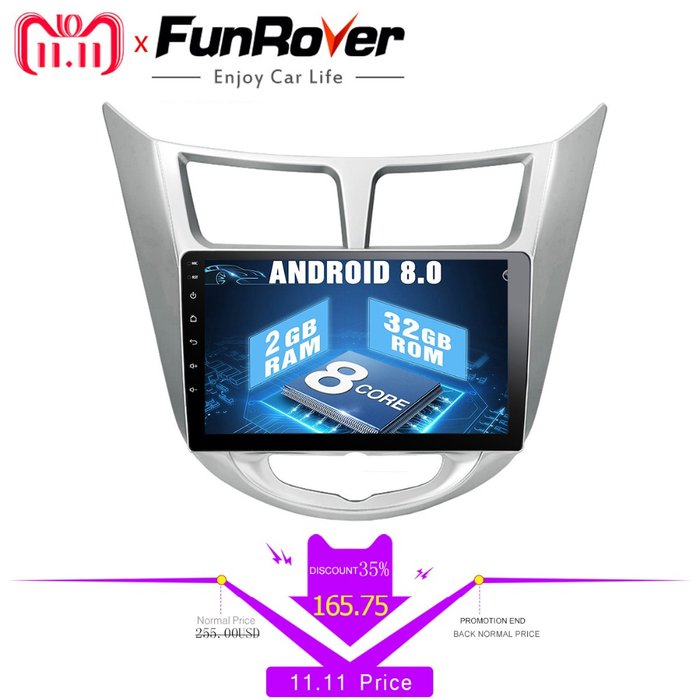 Funrover Octa 8 core Android 8.0 car radio dvd multimedia player for Hyundai Solaris accent Verna i25 gps stereo navigation navi outdoor light aluminum wall lamp headlight lamp door square pillars villa courtyard lamp outdoor waterproof garden lights fg197