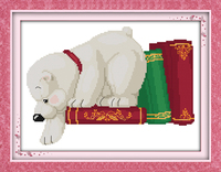White Dog(1) Patterns Counted Cross Stitch 11CT 14CT Cross Stitch Sets Wholesale Chinese Cross-stitch Kits Embroidery Needlework