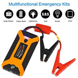 12V 600A 4 Usb Hoge Capaciteit Auto Jump Starter Led Licht Mutifuction Draagbare Auto Batterij Booster Oplader Power Bank
