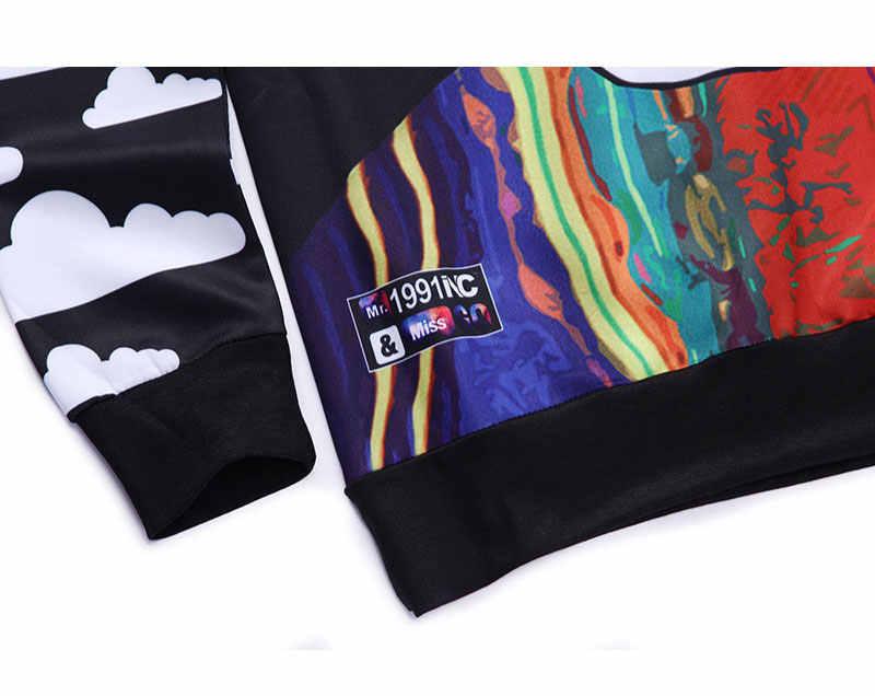 Новые Для мужчин/Для женщин Crewneck 3D Толстовка Harajuku Стиль Графический Толстовки характер Biggie smalls/2Pac/Тупак хип-хоп костюмы Топы корректирующие