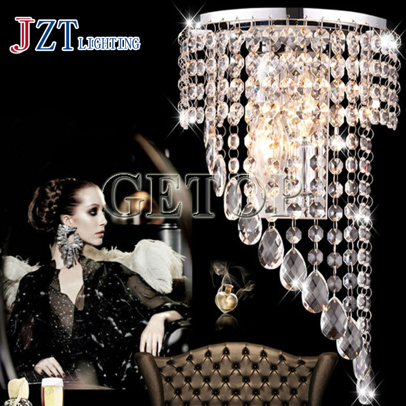 J best price LED Crystal Wall Lamp droplight For Bedside Hotel Bedroom Staircase Modern Stainless Steel Crystal Wall Light best price 5pin cable for outdoor printer